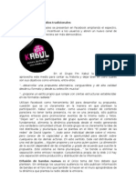Facebook y Los Medios Tradicionales Cecilia Fortunato