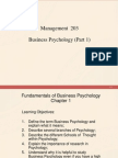 Part 1 Business Psychology