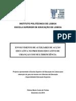 Envolvimento de auxiliares de acção educativa no processo educativo de crianças com multideficiência