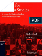 Cambridge - English for Business Studies