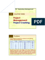 3 Project Management Project Crashing