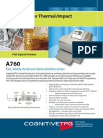 Cognitive TPG A760 Two-Color Thermal/Impact Hybrid Printer Brochure