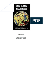 The Only Tradition - William Quinn