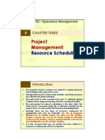 3 Project Management Resource Scheduling