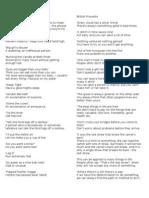 British Sayings and Proverbs
