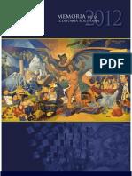 Memoria de la Economía Boliviana 2012