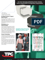 Cognitive TPG A776 Two-Color Hybrid Receipt/Validation Printer Brochure