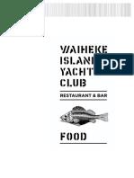 WIYC Dinner Menu
