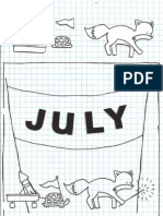 July Embroidery Pattern