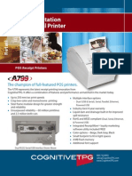 Cognitive TPG A799 Single-Station Direct Thermal Printer Brochure