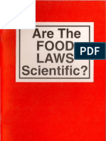 Harold Hemenway Are The Food Laws Scientific?