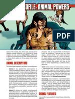 Mutants & Masterminds 3rd Edition Power Profiles - Animal Powers
