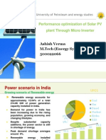 Performance optimization of Solar PV plant through Micro Inverter