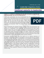 Emotional Maturity to Leadership - Chandramowly May 12,2004