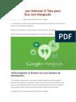 Negocios Por Internet.-3 Tips Para Crear Trafico Con Hangouts