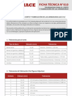Ficha 10 Tolerancias para el Corte y Fabricación de las Armaduras