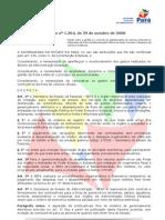 PA - Decreto 1.364-08 - Gestão Combustível