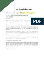 Blog de Jorge Luis Raygada Sotomayor