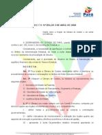 PA - Decreto 894-2008  Câmara de Custeio