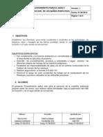PROCEDIMIENTO DE ASEO DE BAÑOS PORTATILES