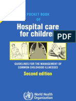 2013 Edition of Pocket Book for Hospital Care for Children