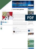 08-07-2013 Contará 'Pepe Elías' con un buen gabinete