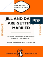 Jill and David Wedding Invite