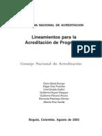 Lineamientos Para La Acreditacion Institucional. Agosto