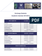 Academic Calendar 2013 20141