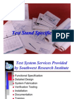 11 Test Stand Specification