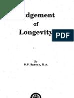 Judgement of Longevity by D P Saxena