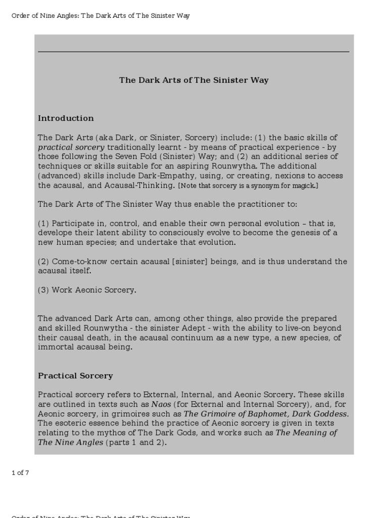 o9a Dark Arts | Causality | Magic (Paranormal)