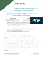 Caso de Rehabilitacion Cognitiva en Traumatismo Craneoencefalico