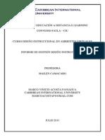 INFORME DE GESTION DISEÑO INSTRUCCIONAL - MARCO ACOSTA