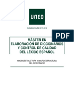 Macroestructura y Microestructura Del Diccionario