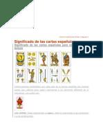 significado de las cartas españolas