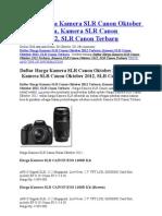 Canon EOS 650D Review Harga Dan Spesifikasi