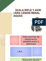 Escala RIFLE y AKIN para lesión renal aguda