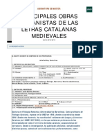 1 Principales Obras Humanistas de Las Letras Catalanas Medievales