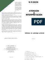 Bion-Atención e Interpretación