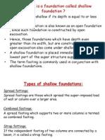 Shallow Foundatn