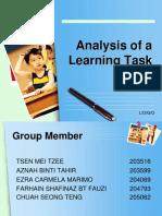 Analysis Learning Task