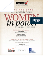 Women in Power 2013 Sponsorship Opportunities