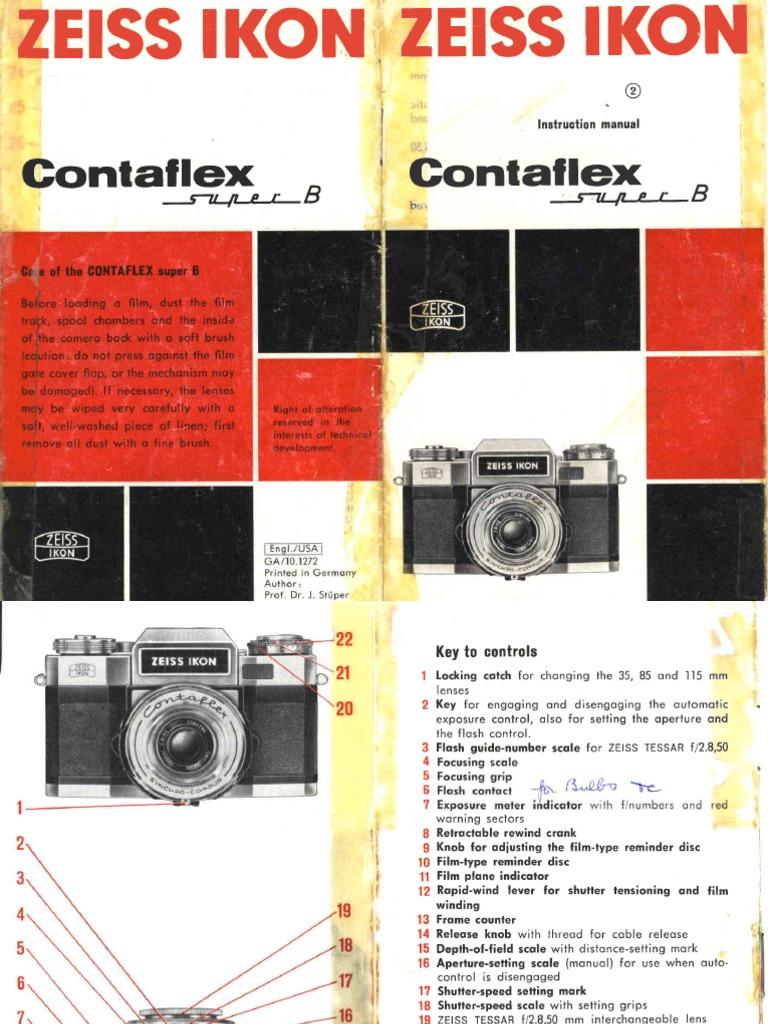 Zeiss Ikon Contaflex Super b | Aperture | Shutter Speed