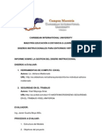 INFORME DE EVALUACIÓN SOBRE LA GESTION DEL DISEÑO INSTRUCCIONAL