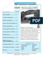 ReoTemp Thermocouple & RTD Catalog