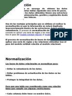 Presentation Normalizacion