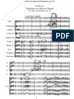 Tchaikovsky - Variations on a Rococo Theme for Cello and Orchestra, Op 33 (Orchestral Score)