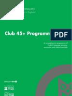 영국 Anglo Continental Club 45 Programme 2013