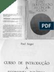 Curso de Introdução à Economia Política Paul Singer